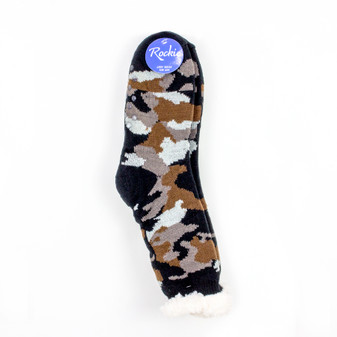 Rockie Mens Classic Knit Socks with Sherpa Cuff and Lining | Prices Plus