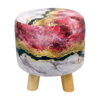 Marble Look Printed Stool | Prices Plus