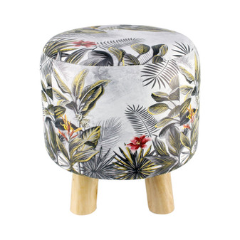 Flower Printed Stool | Prices Plus
