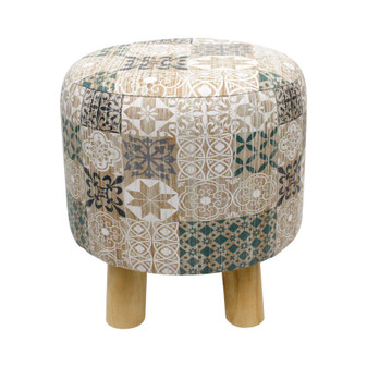 Moroccan Printed Stool | Prices Plus