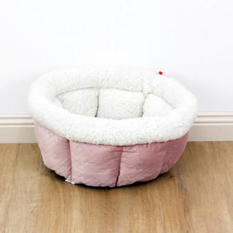 Ruckus & Co Round Cup Velvet Pet Bed   Prices plus