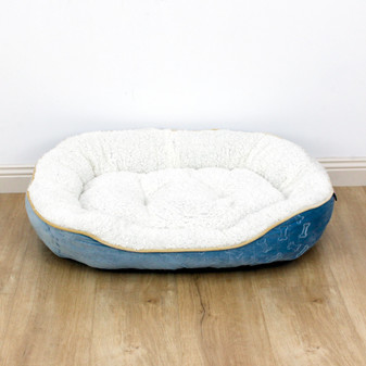 Ruckus & Co Oval Velvet Pet Bed - Large | Prices Plus