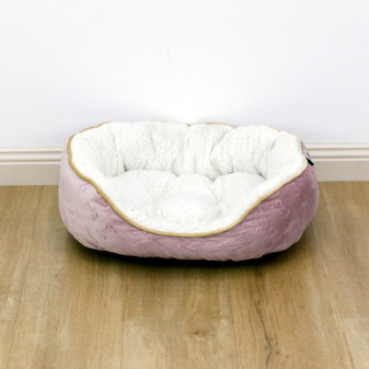 Ruckus & Co Oval Velvet Pet Bed - Medium | Prices Plus