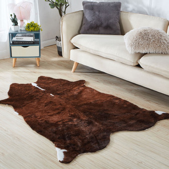 Brown Faux Cow Rug | Prices Plus