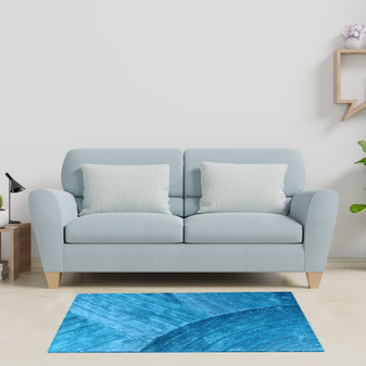 Teal Contrast Shaggy Rug - MED | Prices Plus
