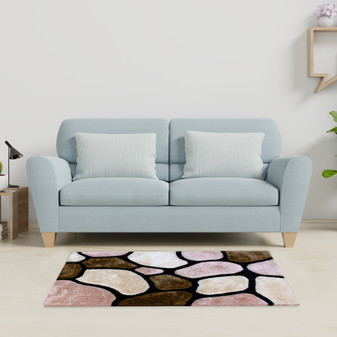 Stone Look Shaggy Rug - MED | Prices Plus