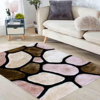 Stone Look Shaggy Rug - LARGE | Prices Plus
