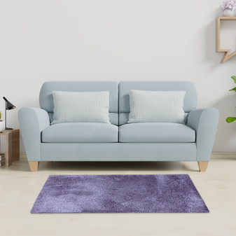 Sumptuous Lavender Shaggy Rug - MED | Prices Plus