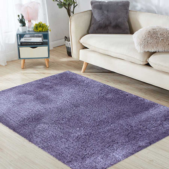 Sumptuous Lavender Shaggy Rug - LARGE | Prices Plus