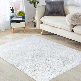 Sumptuous Creme Shaggy Rug - LARGE | Prices Plus