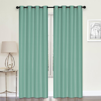 Embossed Blockout Eyelet Curtain Teal - 137 x 213cm | Prices Plus