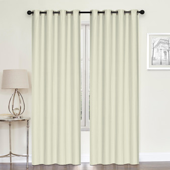 Embossed Blockout Eyelet Curtain Beige - 137 x 213cm | Prices Plus