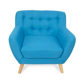 Home Storage & Living Sally 1 Seater Sofa Chair - Aqua | Prices Plus