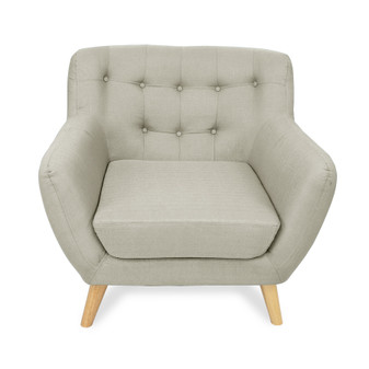 Home Storage & Living Sally 1 Seater Sofa Chair - Beige | Prices Plus