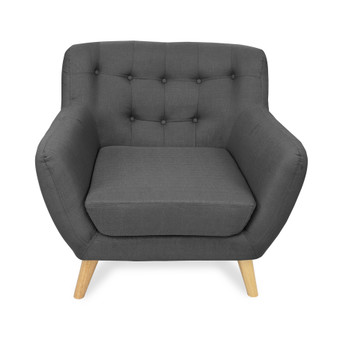 Home Storage & Living Sally 1 Seater Sofa Chair - Grey | Prices Plus