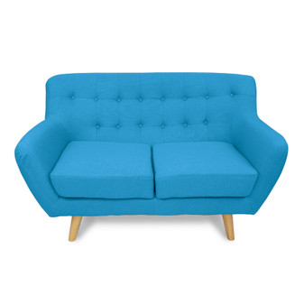 Home Storage & Living Sally 2 Seater Sofa Chair - Aqua