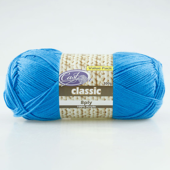 Cast On Electric 8ply Blue 300g - 10 pack | Prices Plus
