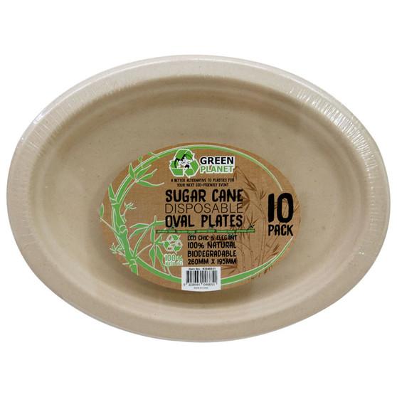 ECO Sugar Cane Disposable Plates PK 10 | Prices Plus