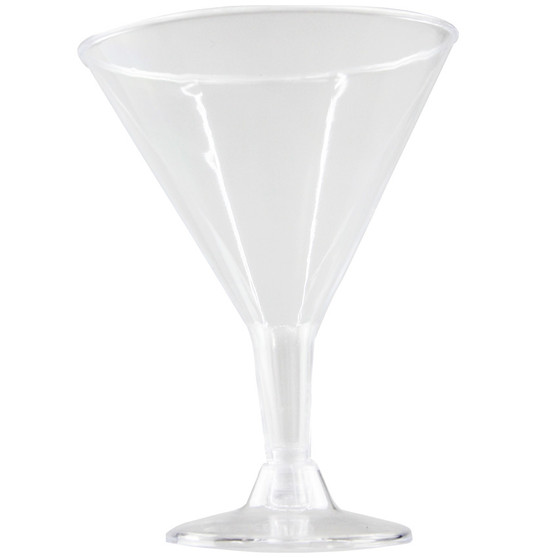 Clear Plastic Cocktail Glasses 4PK | Prices Plus