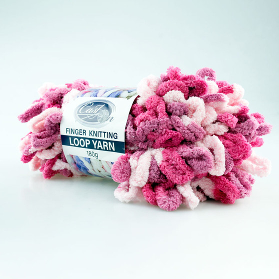 Cast On Finger Knitting Loop Yarn 180 gram Pink / Light Pink - 10 pack | Prices Plus