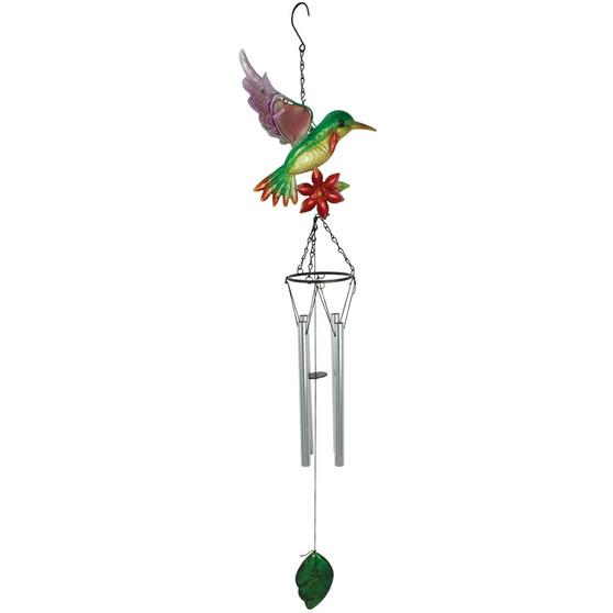 Hummingbird and Flower Windchime