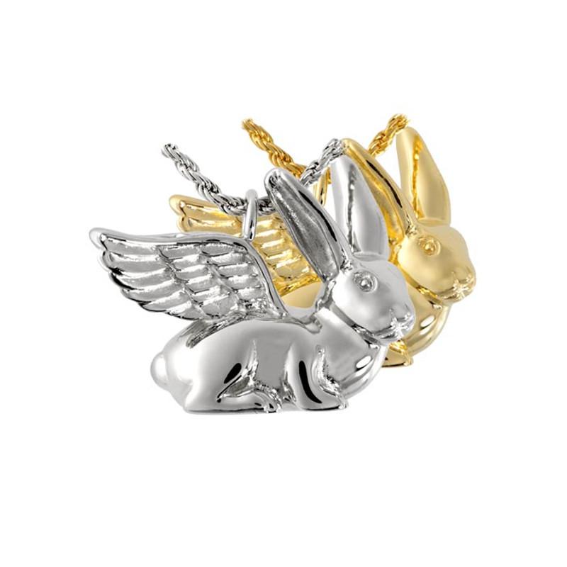 Rabbit Angel Cremation Urn Necklace