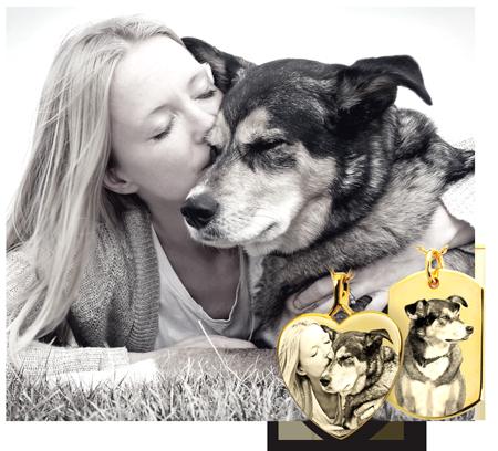 Pet Photo Cremation Ash Memorial Jewelry