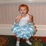 1st birthday outfit, Cinderella glass slipper, toddler tutu dress