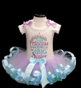 Big sister -gender reveal princess tutu outfit Going to be a big sister tutu dress