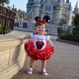 Minnie Mouse 1st Birthday Outfit, 1st birthday girl outfit, personalized shirt and tutu