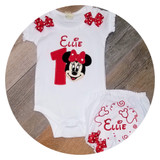 Minnie Mouse 1st Birthday Girl Outfit , Cake Smash Set