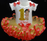 first birthday tutu outfit, personalized Moana Birthday Outfit