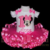 Minnie Mouse 1st Birthday Outfit, Adorable Minnie birthday dress in pink