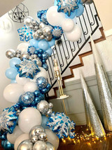 104pcs Snowflake Balloons Garland Arch Kit Ice Snow Queen Metal Balloon For Frozen Birthday Baby Shower Wedding Party Decor