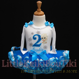 Frozen Birthday Outfit in turquoise and silver