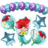1 set Mermaid Ariel Princess Birthday Party Decorations  10inch Latex Balloons