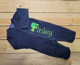 Newborn outfit boy| coming home outfit boy| newborn footed sleeper Dinosaur