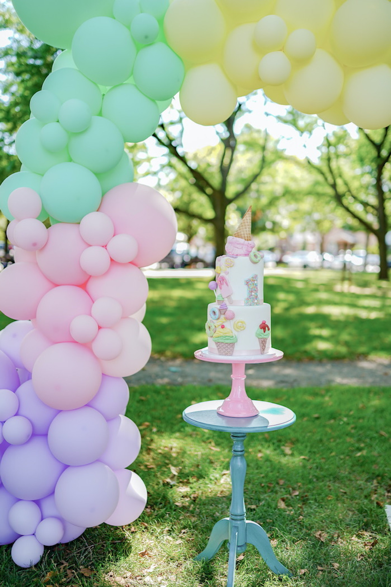 Ice Cream Party Theme-this month's featured 1st birthday party
