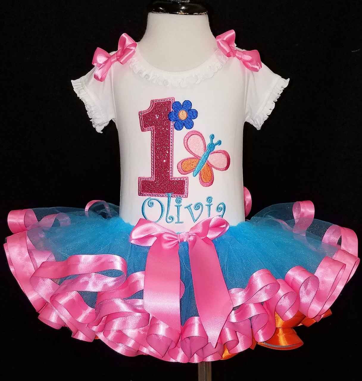 1st birthday girl outfit butterfly birthday set