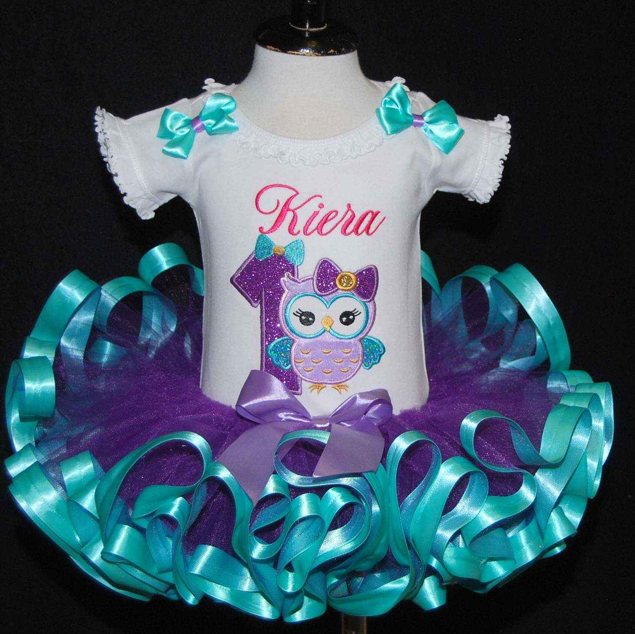 1st birthday girl outfit Glitter Owl Tutu Outfit