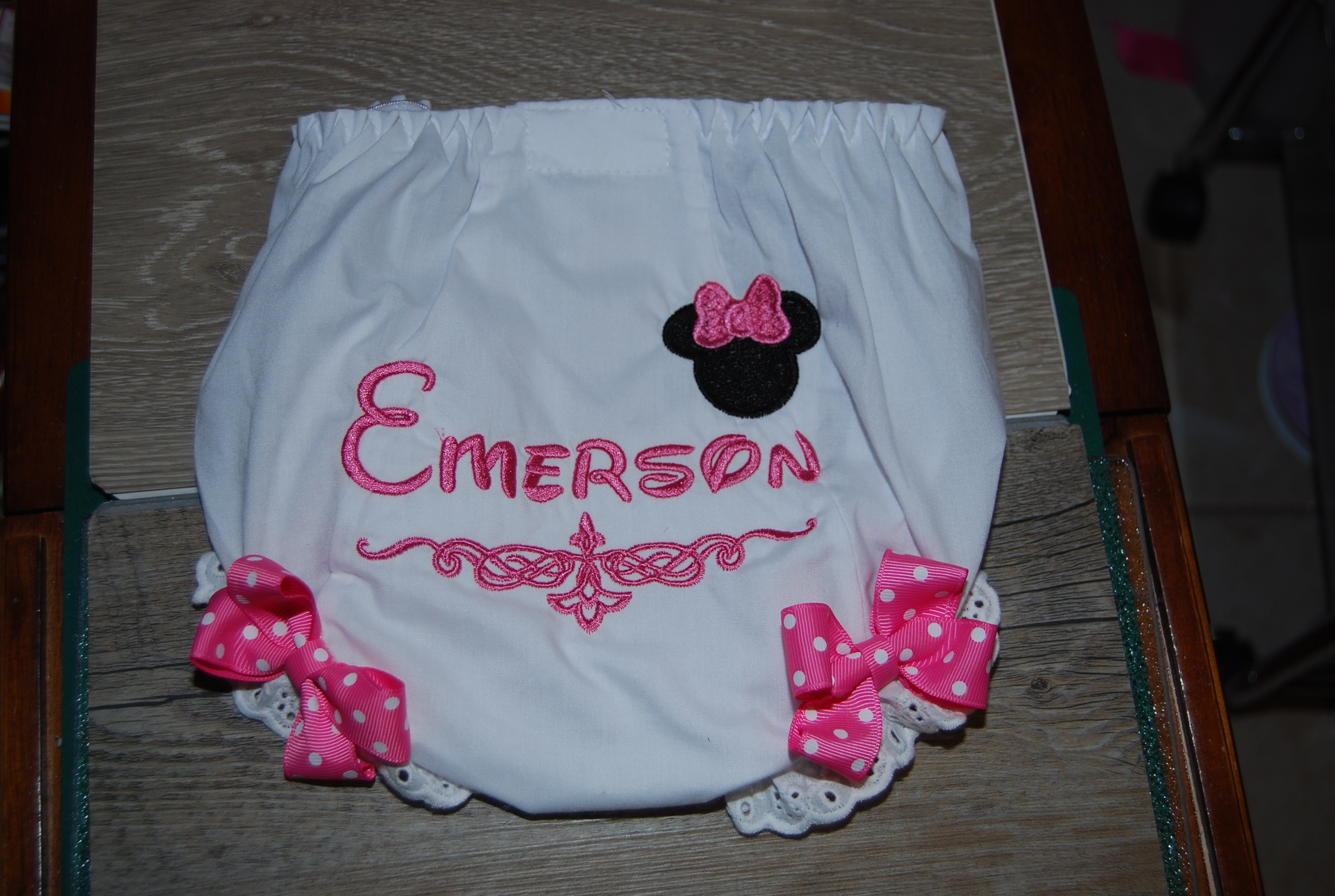 matching bloomers included