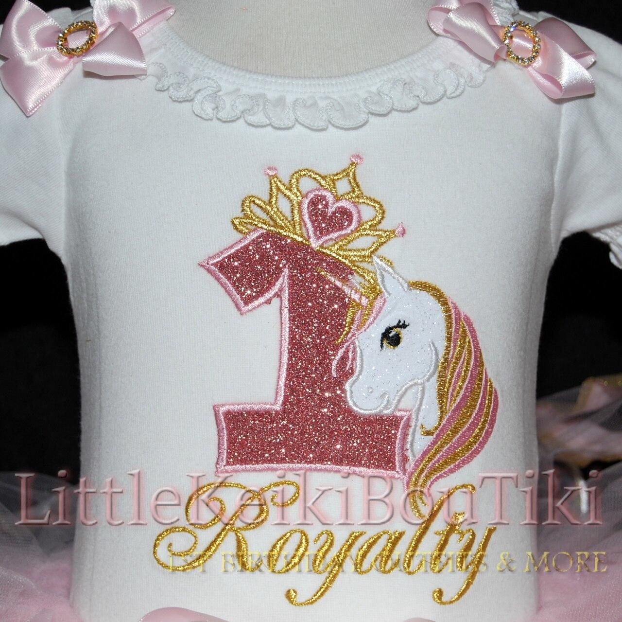 1st birthday girl outfit unicorn birthday tutu outfit with Royal Unicorn