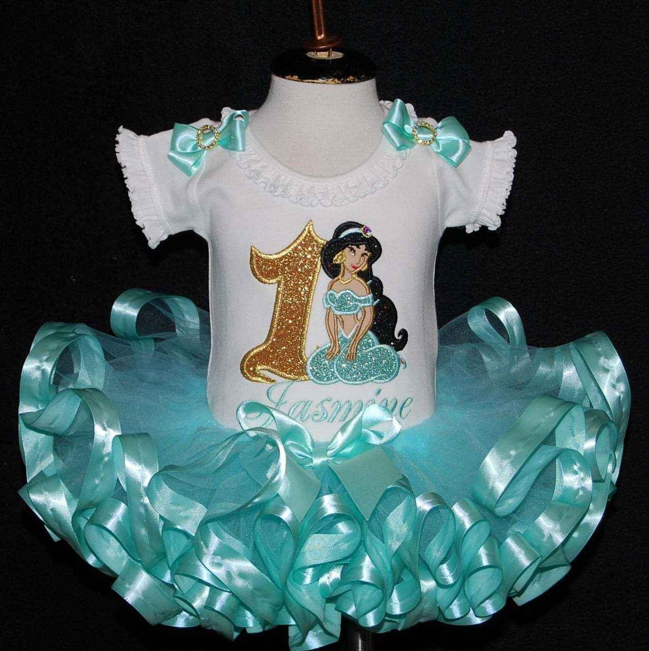 1st birthday girl outfit, Princess Jasmine