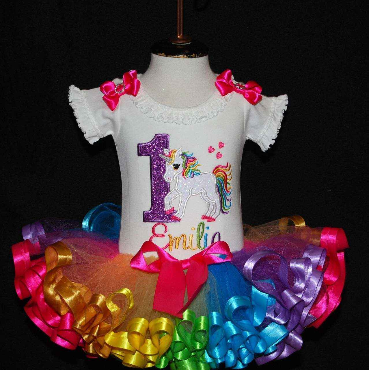 1st birthday girl outfit, unicorn birthday outfit