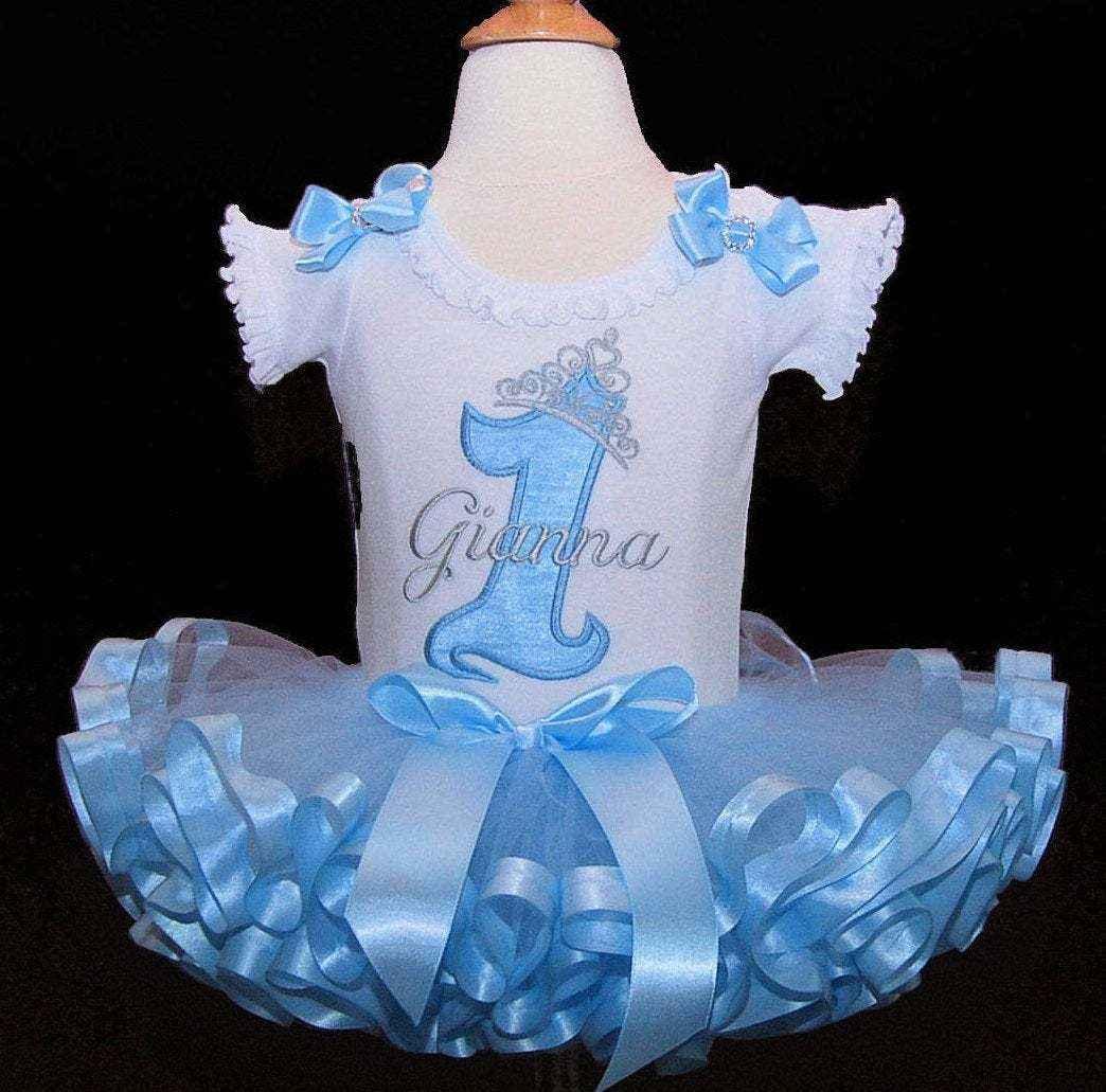 1st Birthday girl outift Princess Birthday Outfit crown tutu dress