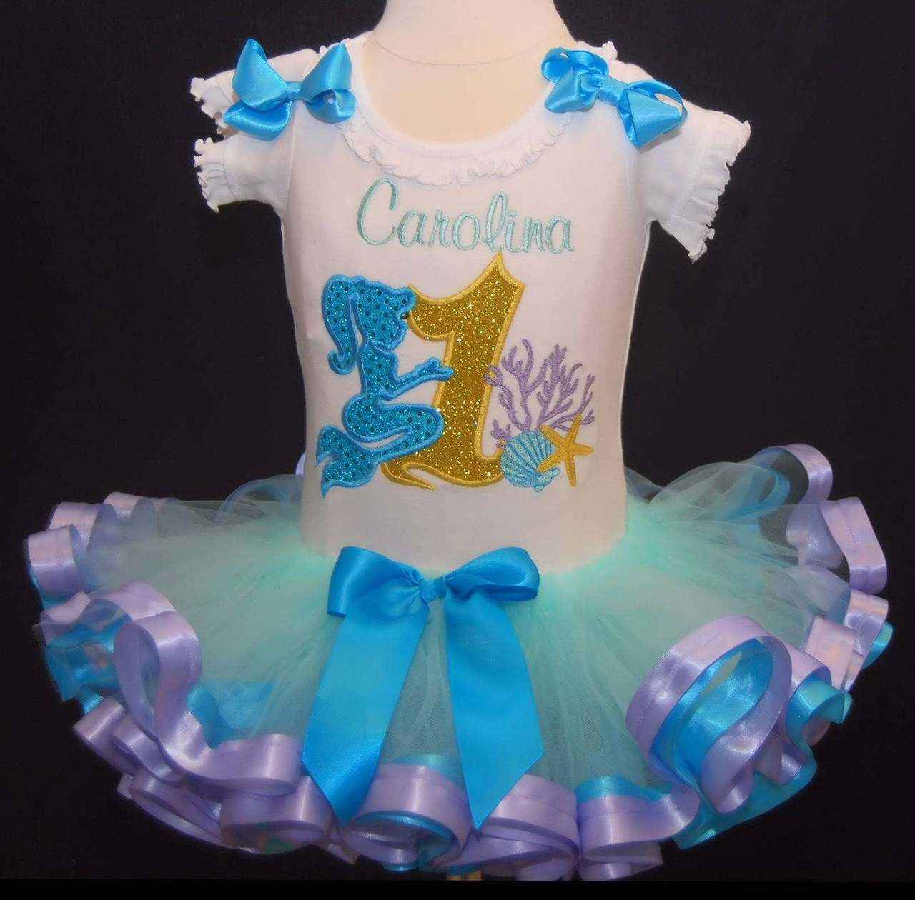 1st birthday outfit, mermaid, Under the Sea, Shells and Coral, Birthday Tutu