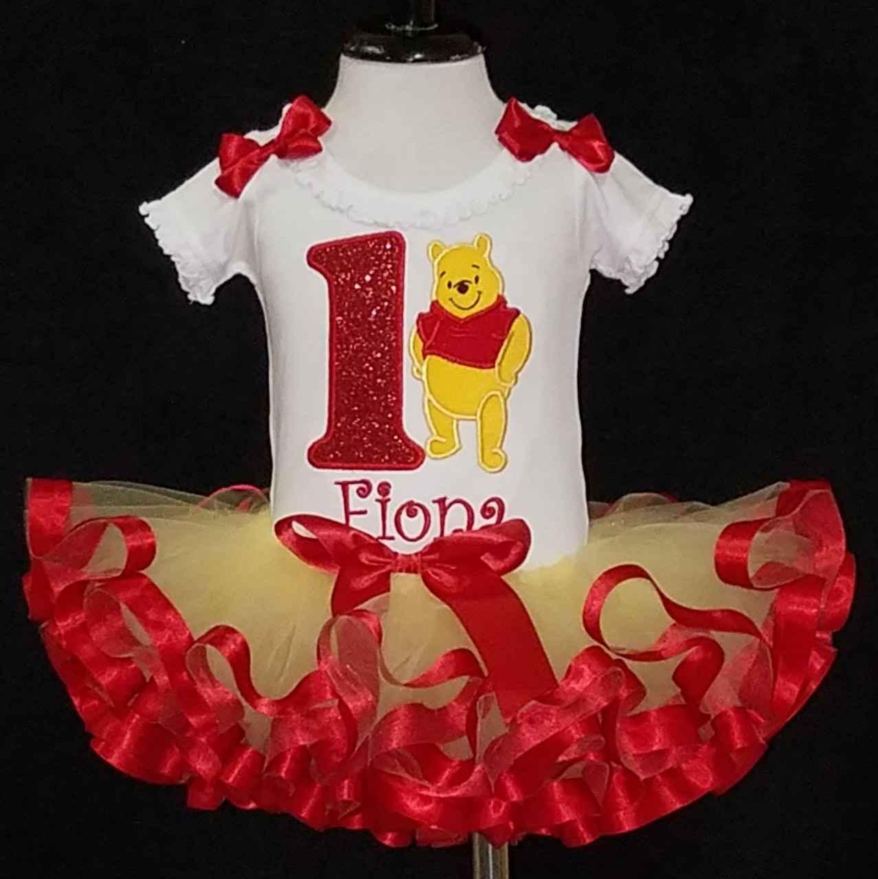 1st birthday tutu outfit Pooh Bear