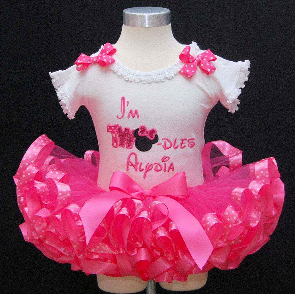 2nd Birthday Tutu Outfit, Minnie Mouse tutu outfit Im Twodles