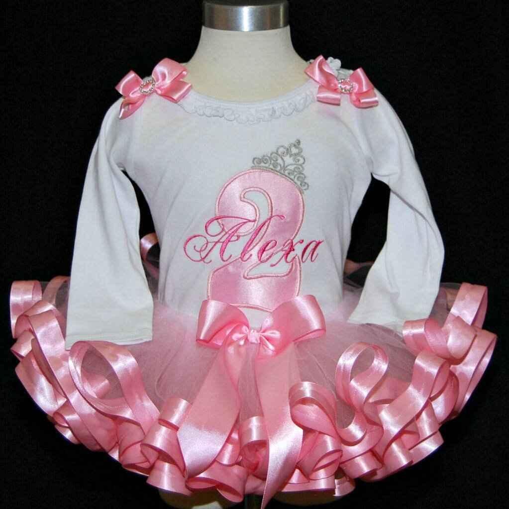 2nd birthday girl outfit, princess birthday shirt, princess tutu outfit
