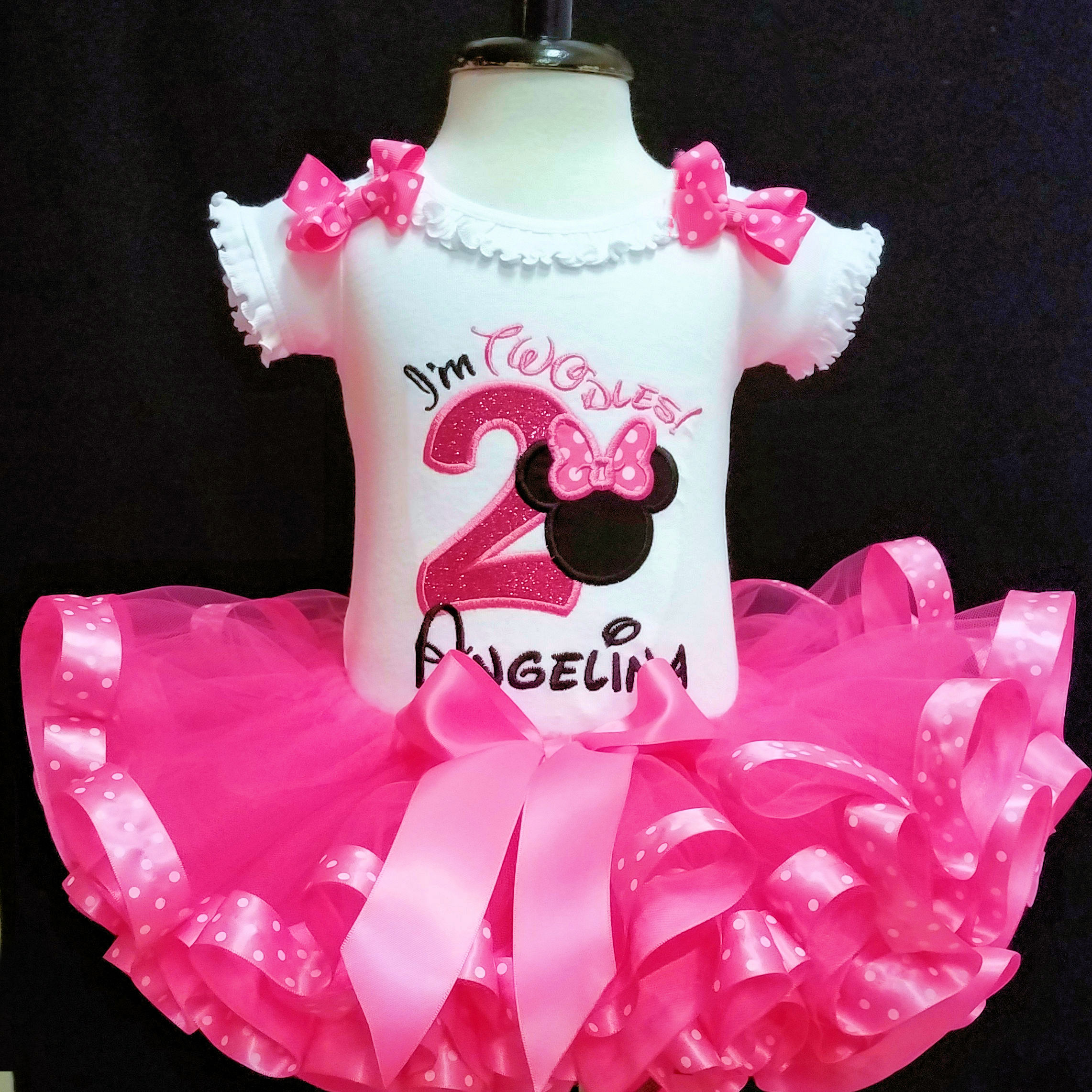 oh Twodles 2nd birthday outfit in pink